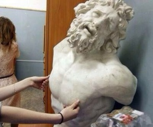 HAHAHA, pain, and sculpture image