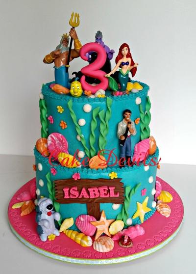 Pleasant Little Mermaid Birthday Cake Under The Sea Birthday Cake Funny Birthday Cards Online Eattedamsfinfo