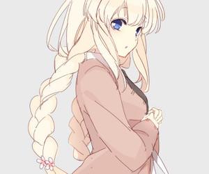 anime girl, drawing, and lolita image