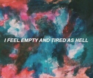 tired, empty, and grunge image