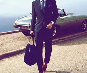 car, suit, and man image