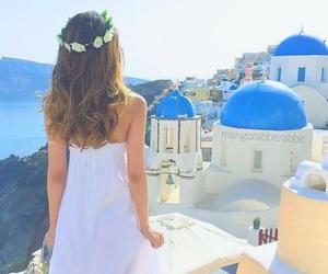 girl, Greece, and fashion image