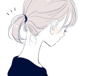 anime girl, beautiful, and drawing image