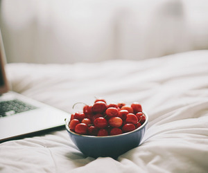 50mm, cherries, and bed image