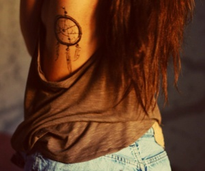 tattoo, hair, and dreamcatcher image