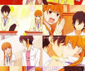 anime, anime couple, and tonari no kaibutsu-kun image