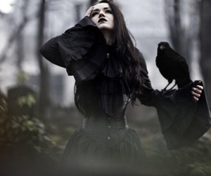 black, gothic, and raven image