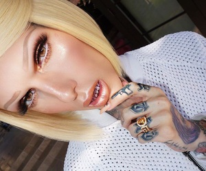beautiful, blond, and contour image