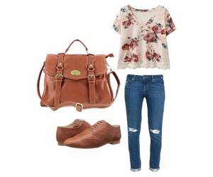 outfit, oxford, and Polyvore image