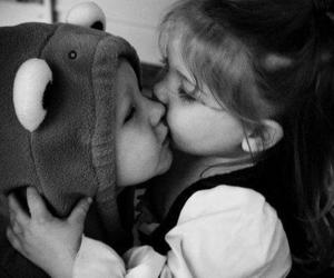 cute, kiss, and baby image