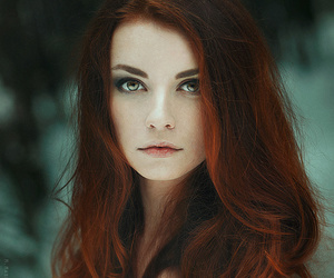 hair, model, and red image