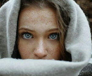 beauty, blue eyes, and dreamy image