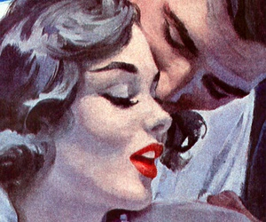 paint, pin-up, and love image