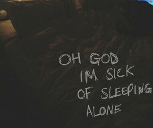 alone, bed, and quotes image