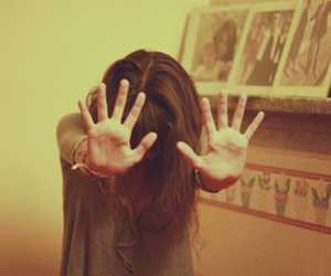 girl, hands, and stop image