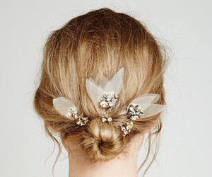 bride, hairstyle, and Prom image