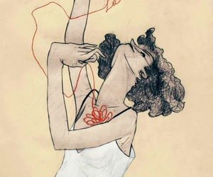 freedom, egon+schiele, and red+ribbon image