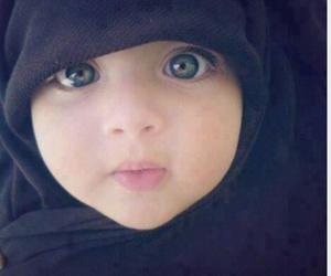 baby, hijab, and muslim image
