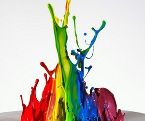 paint, rainbow, and colors image