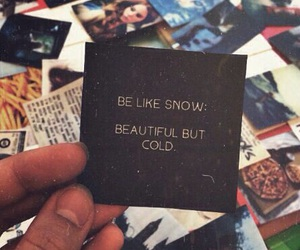 snow, cold, and quotes image