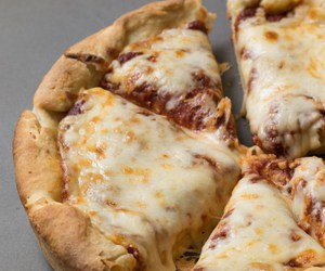 cheese, dough, and pizza image