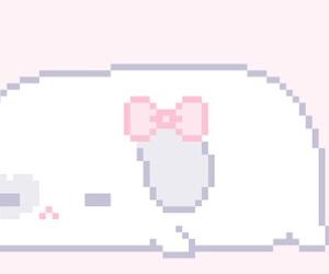 bunny, pixel, and kawaii image