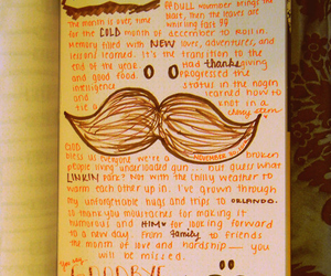 diary, journal, and moustache image