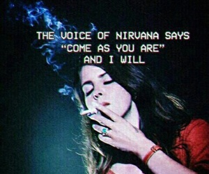 lana del rey, nirvana, and grunge image