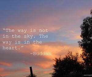 Buddha, sky, and heart image
