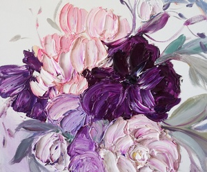 flowers, paint, and painting image