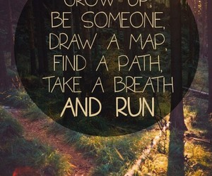 run, quote, and inspiration image