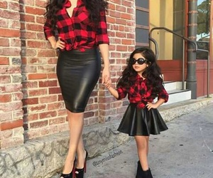 mom, daughter, and red image