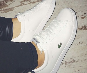 fashion, lacoste, and shoes image