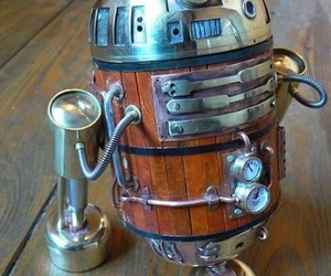 r2d2, star wars, and steampunk image