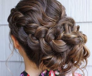 braid, brunette, and curls image