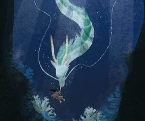 anime, chihiro, and dragon image