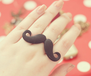 ring, mustache, and moustache image
