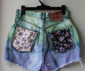 shorts, fashion, and flowers image