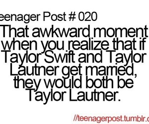 Taylor Swift, Taylor Lautner, and teenager post image