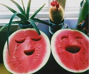 delicious, smile, and watermelon image