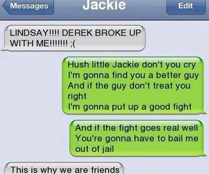 funny, friends, and text image