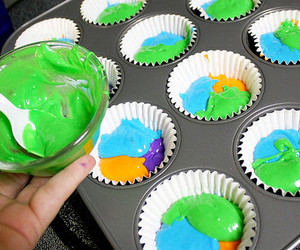photography, cupcake, and colorful image