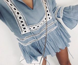 fashion, blue, and summer image