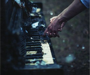 piano, music, and art image