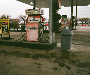 analog, film, and gas station image