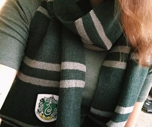 green, harry potter, and hogwarts image