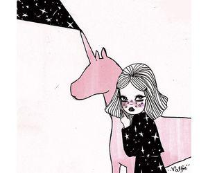 unicorn, girl, and valfre image
