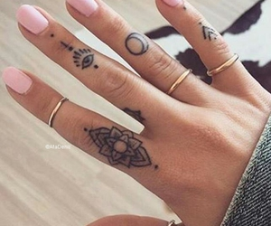 art, nails, and ink tattoo image