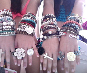 bracelet, rings, and friends image