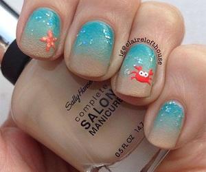 nails, summer, and crab image